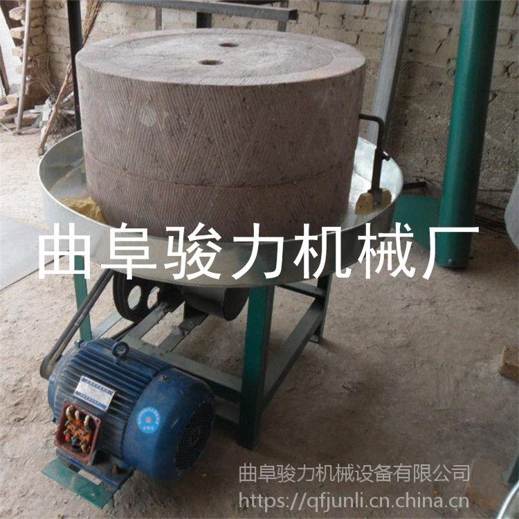 原生态小麦杂粮石磨面粉加工设备 全自动面粉机 价格 骏力牌 半自动电动石磨机 热销