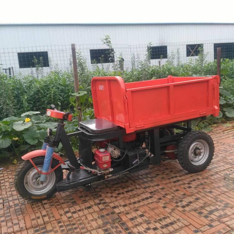 九州建筑砂石煤矿三轮车电动柴油自卸车 小型工程三轮翻斗车
