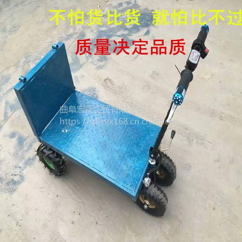 电动手推车 蔬菜运输车 果园用小型电动四轮车