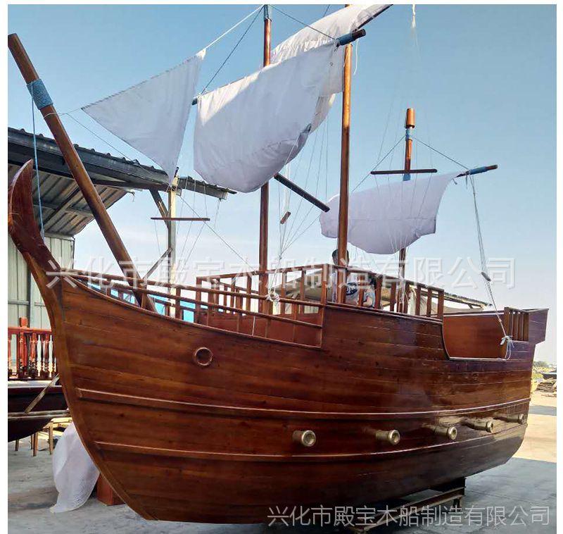 大型户外景观木船欧式主题木船儿童游乐船海盗船创意木船