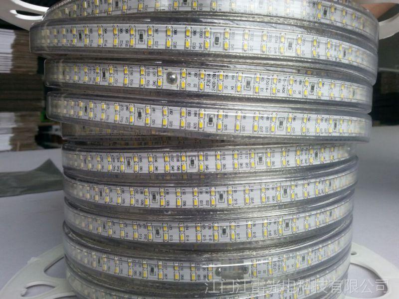 江雷2835双排灯带led超高亮贴片生产厂家防水灯条质保2年