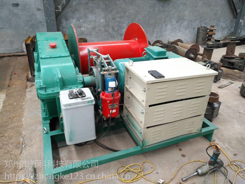 陕西安康郑科10T重型可调速电动卷扬机提升安全
