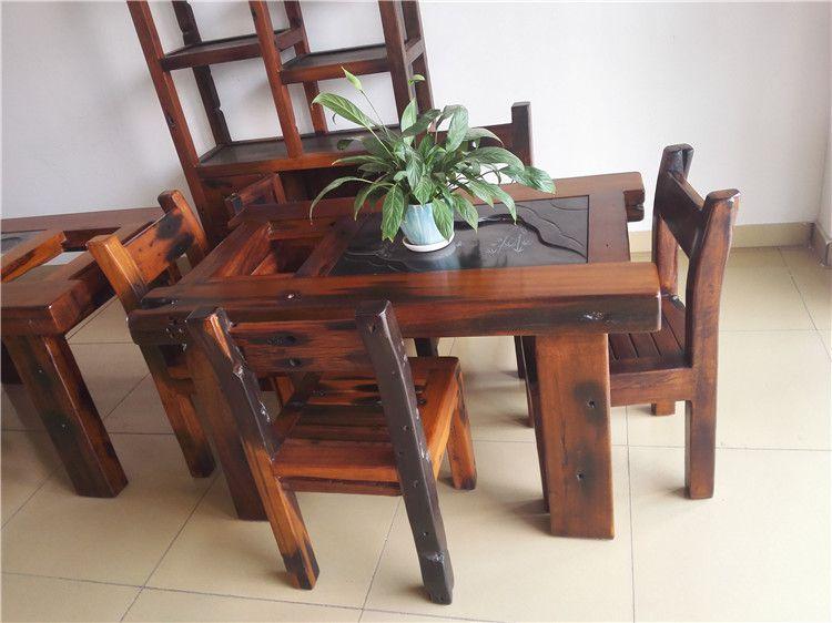 供应老船木龙骨茶桌椅组合 实木客厅原生态茶台 船木茶几特价
