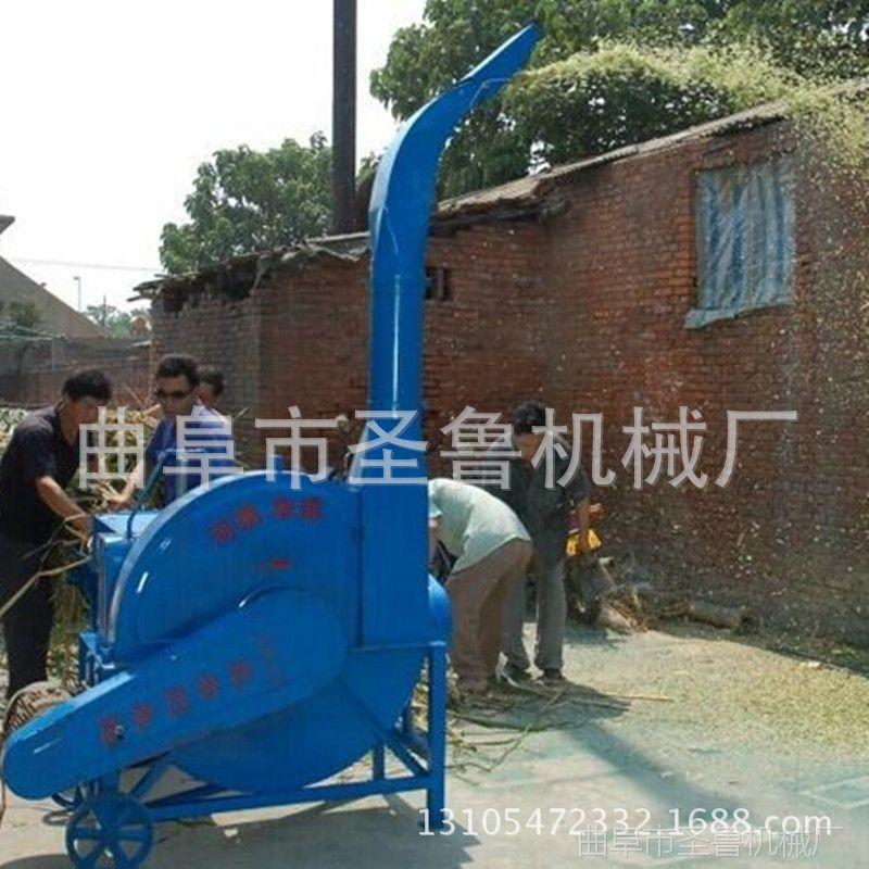 圣鲁秸杆铡草机 鲜玉米杆切草机 自动进料铡草机