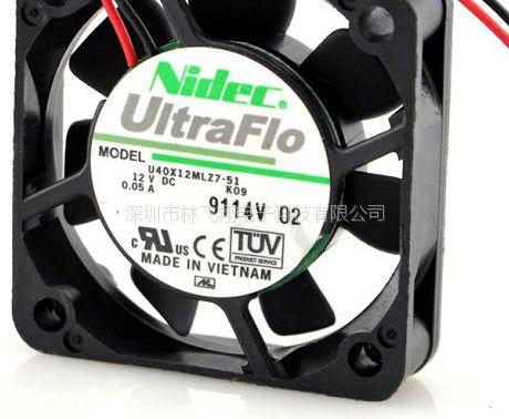 NIDEC U40X12MLZ7-51 K09 4CM 12V 0.05A 超静音散热风扇