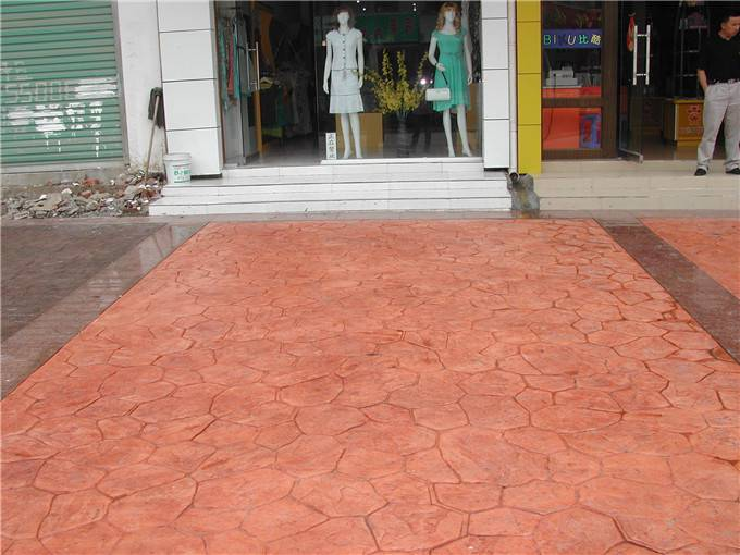 兴安盟 乌兰浩特市彩色压模混凝土水泥压印道路主要材料彩色强化料,着色脱膜粉,罩面保护剂