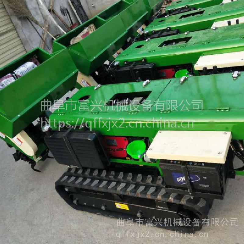施肥开沟机厂家 履带式旋耕除草机价格 富兴牌时风柴油机自走式回填机
