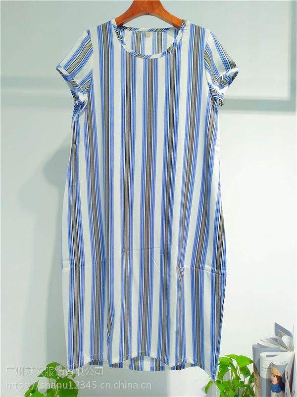 品牌女装唯姿诺夏装大版宽松连衣裙女装折扣店拿货渠道