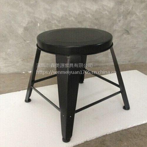 森美源定制美式复古家具铁艺loft实木餐桌长方形现代简约电脑办公工业风书桌