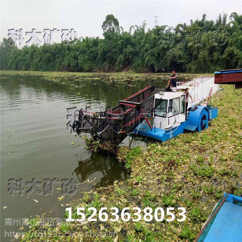 水浮莲清理船、广东水浮莲清理机械、河面清漂船