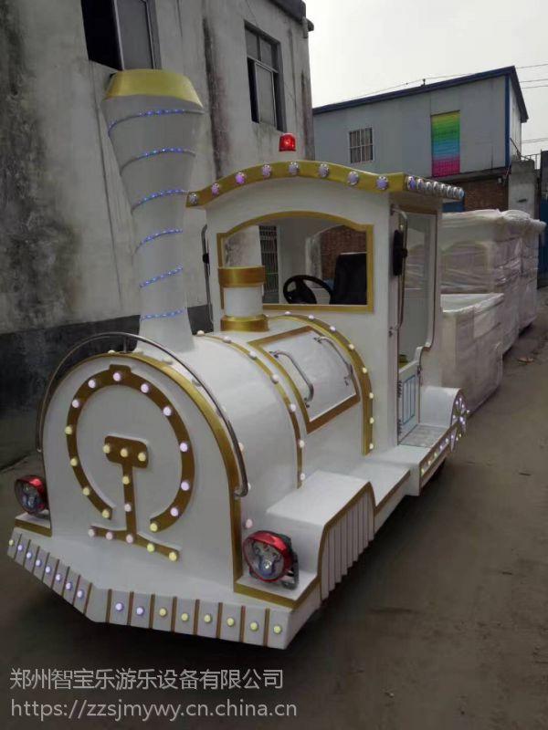 观光无轨电动小火车大型游乐场轨道娱乐设备儿童乐园商场仿古小火车 优质玻璃钢定制