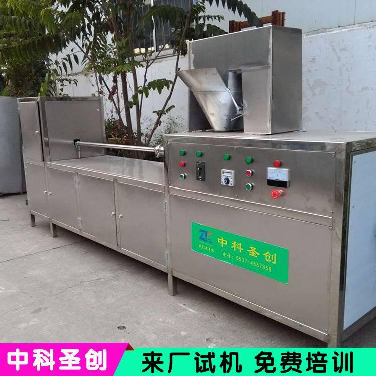 大中小型千张豆腐皮机设备厂家直销 现场操作商用仿手工做豆腐皮的机器