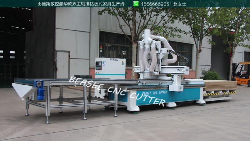 莆田市 全套家具生产设备 双工序排钻数控下料机价格