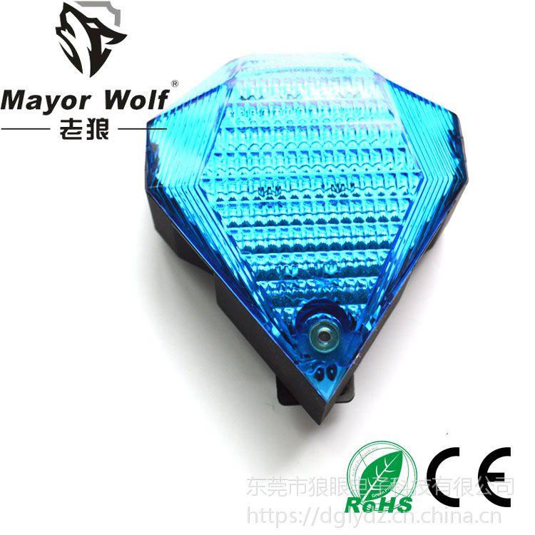 狼眼厂家批发 led砖石激光尾灯 自行山地车骑行安全警示灯