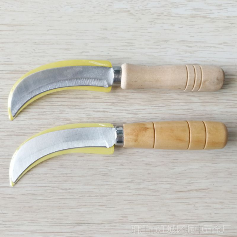 厂家直供 菠萝扣眼刀 V字型菠萝刀 香蕉弯刀 菠萝工具