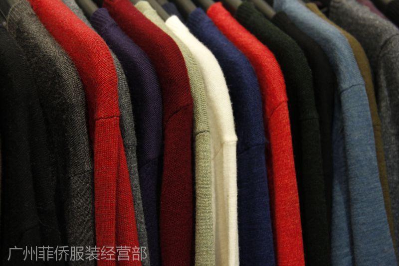 男士秋冬新款纯羊毛毛衣 品牌男装羊毛衫库存尾货清仓处理