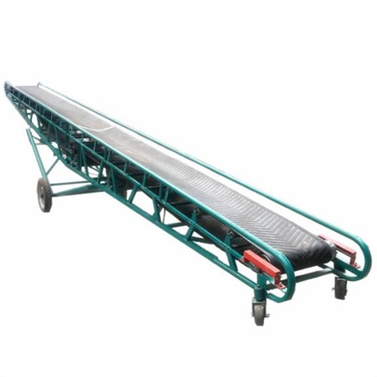 V型小麦装车输送机 兴运5米高爬坡固定式皮带输送机