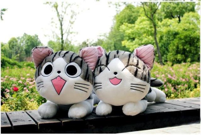抱枕私房猫超大猫咪猫毛绒玩具卡通小猫起司猫小奇猫公仔最流行的玩具车图片