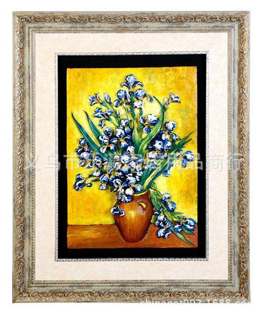 梵高油画系列竖款6280-1向日葵树脂浮雕工艺品立体装饰框画