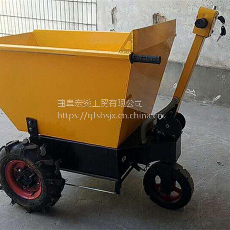 电瓶带的建筑工地三轮车 方便灵巧型 大功率电动平板车