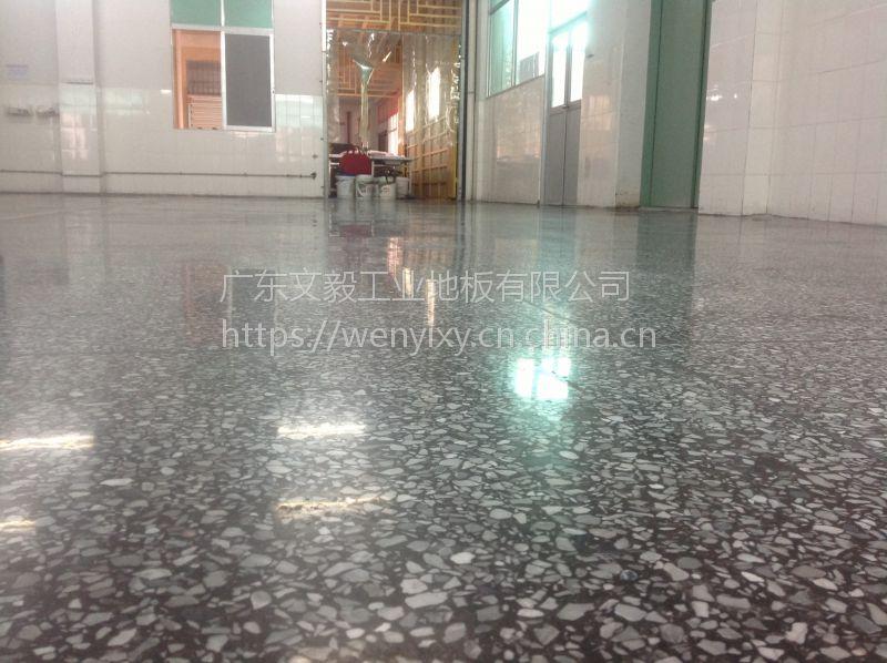 江北三新工业区水磨石起灰处理+水磨石抛光+旧地面翻新