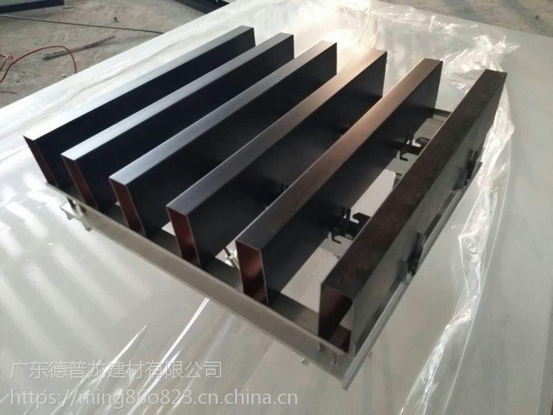 吊顶U槽铝方通,幕墙弧形铝方通装饰。