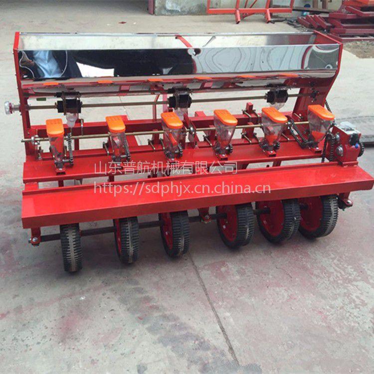 普航农用四轮车带种玉米黄豆机器毛豆播种机 多功能萝卜精播机 10行谷子播种机