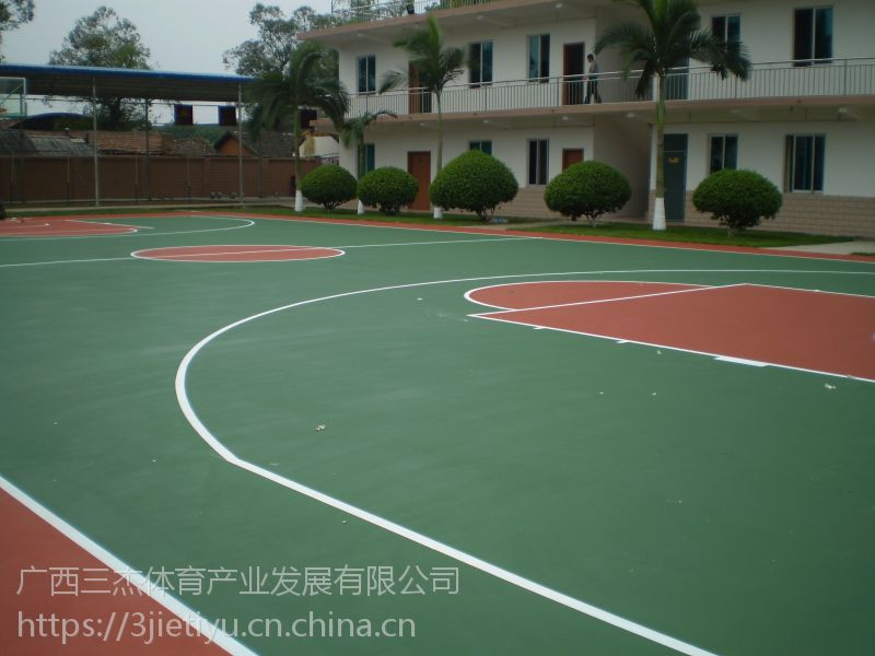 柳州硅PU球场 广西柳州三杰体育专业球场本土施工企业