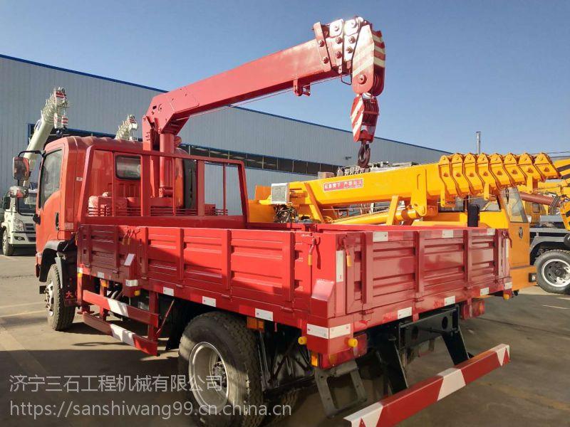 4吨大运4节臂随车吊客户试车视频 货箱3.4米 云内130马力增压发动机