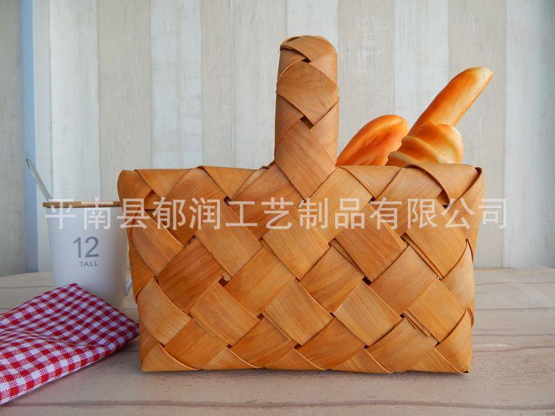 木片出口*薄板厂家编织收纳篮*木篮子*手提篮a3钢原木图片