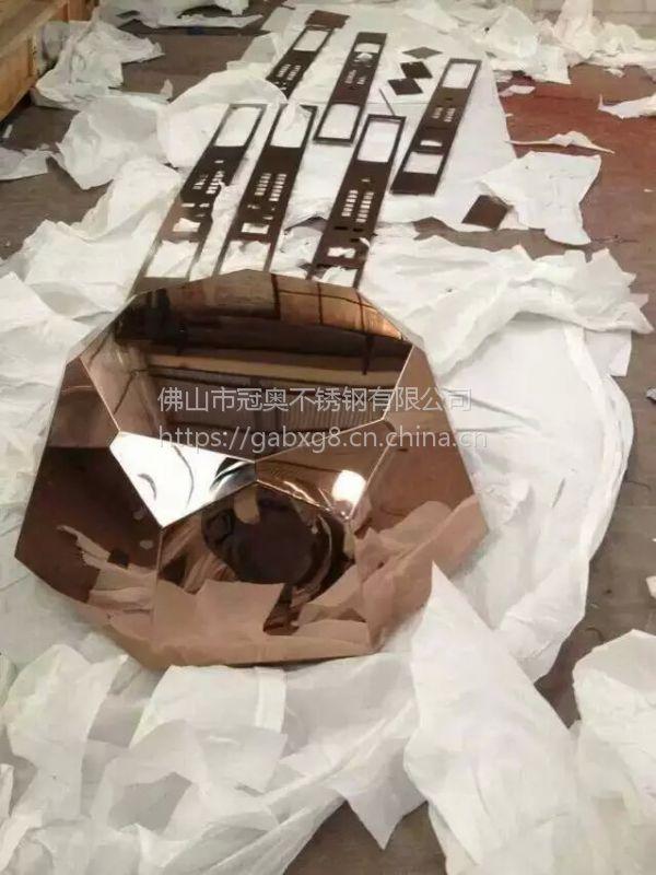 厂家直销 不锈钢花盆 多边形创意 摆饰金属花器 现货 一件代发
