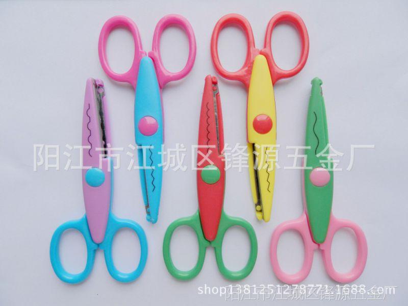 创意办公裁剪用具 儿童手工剪纸刀卡通花边剪刀厂家批发1