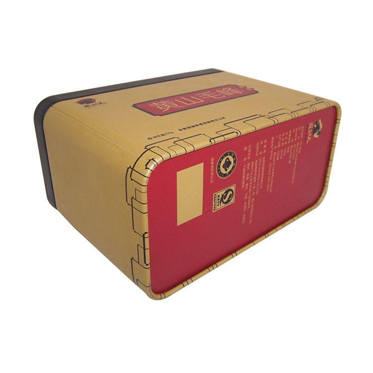 茶叶铁罐厂家 供应云南茶叶铁盒长方形茶叶铁罐图片