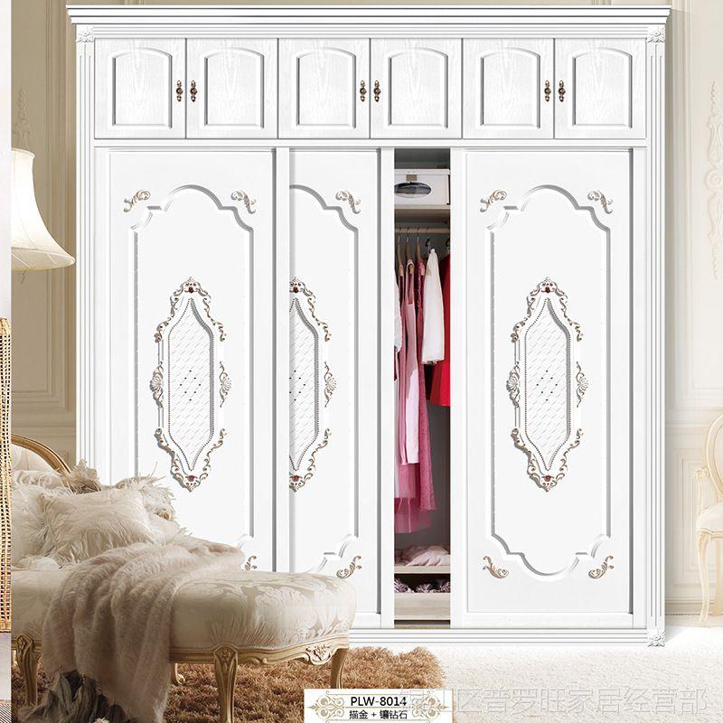2017年新款定制衣柜推拉门移门整体衣柜门吸塑板定做衣橱门厂