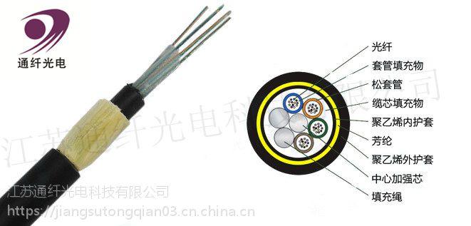 通纤科技电力光缆无金属自承式架空ADSS光缆(50-1000跨距)