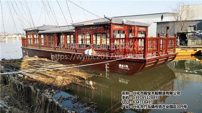 江苏浙江哪里有大型电动画舫船 景区观光旅游船 餐饮画舫船 公园木船