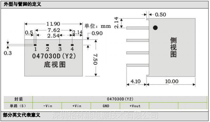 格林能微功率非稳压电源系列