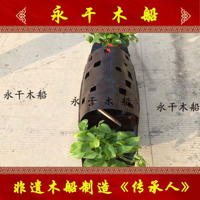 定制酒店悬挂乌篷花船 景观装饰摆件道具木质船 服务类船