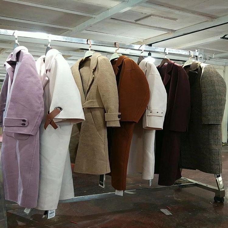 品牌折扣女装走份批发 雪莲伊梦羊绒双面呢阿尔巴卡大衣货源