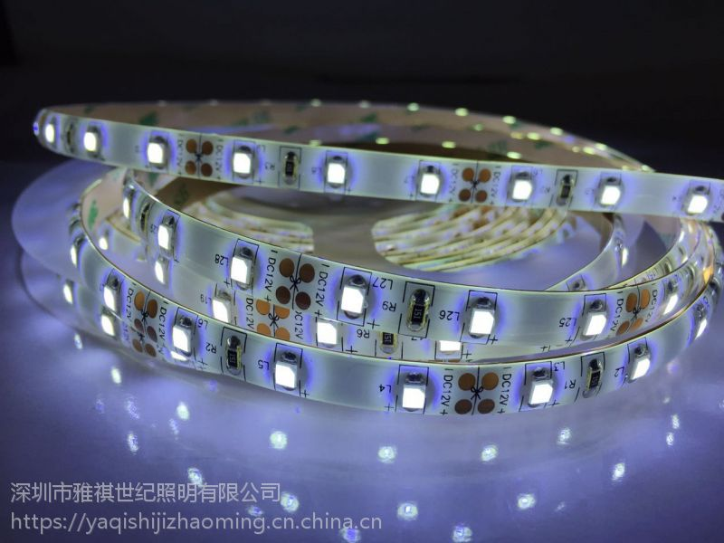 雅祺3528-60灯8MM宽灯条 白光滴胶防水软灯带柜台装饰LED灯条批发