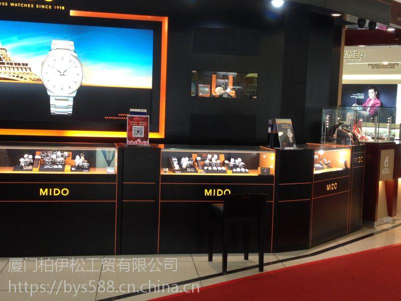 厦门手表展示柜价格,手表展示柜定做厂家,手表柜台装修货架定做工厂