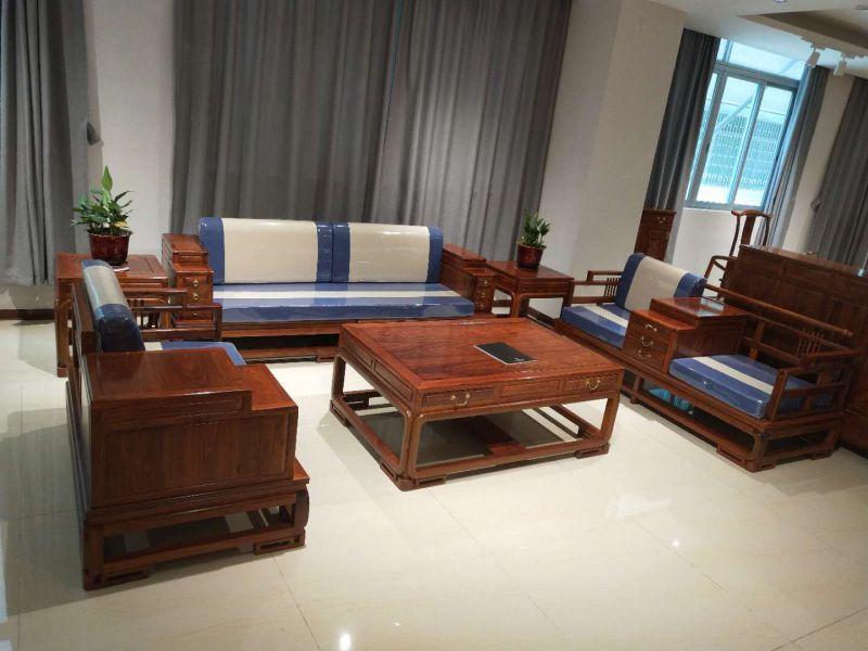 新中式风格布艺江南沙发 名琢世家品牌 全国销售