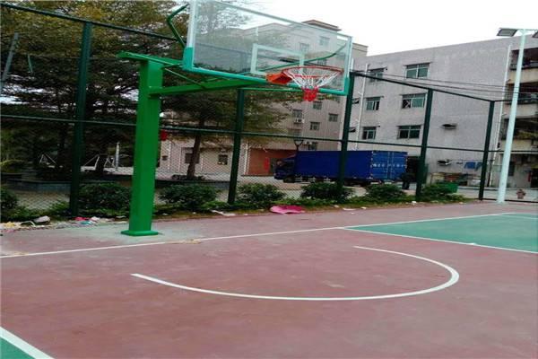深圳篮球架 篮球架厂家 硅PU篮球场价格