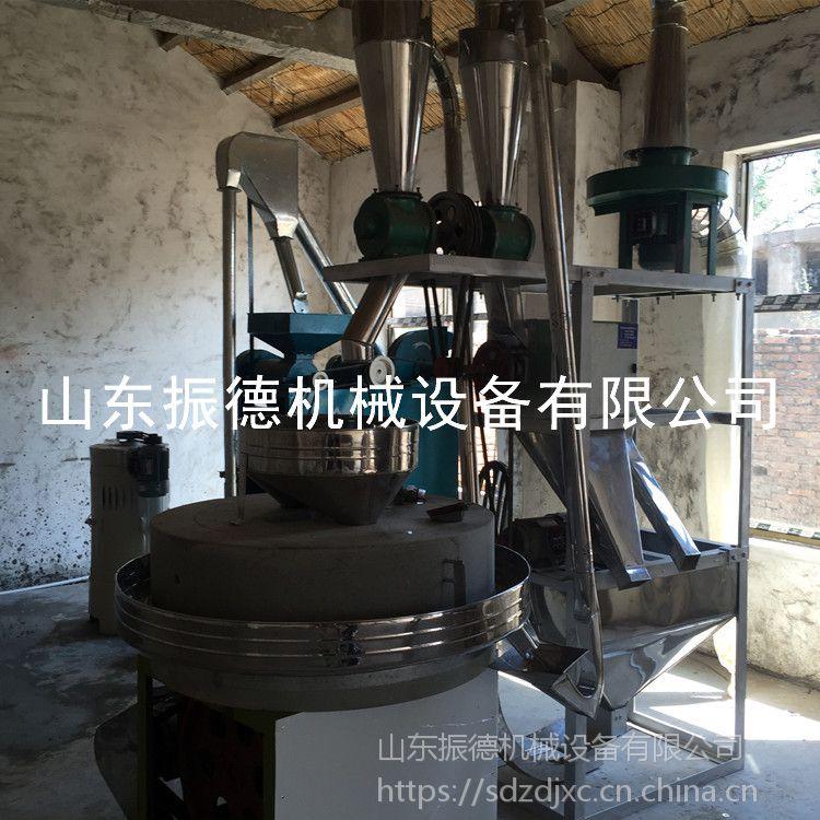 厂价供应 面粉加工专用电动石磨机 商家两电动石磨面粉机 小麦加工设备 振德