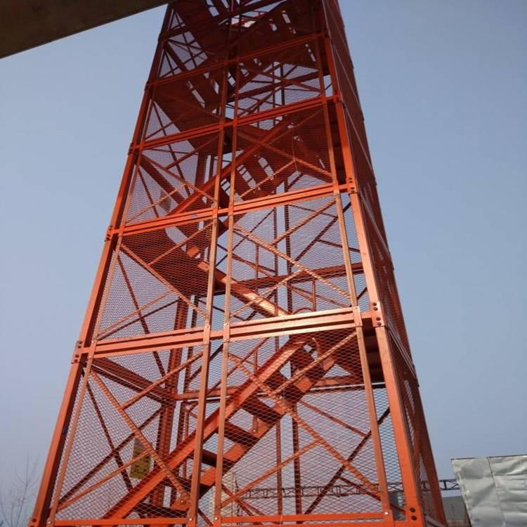 供应安全爬梯厂家 设计合理 耐磨损 稳固性极强 安全可靠 通达器材厂