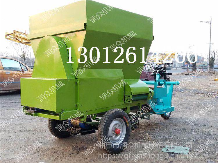 坚固耐用羊场投料车 质优价廉牛场撒料车 全能自走式饲料抛料车
