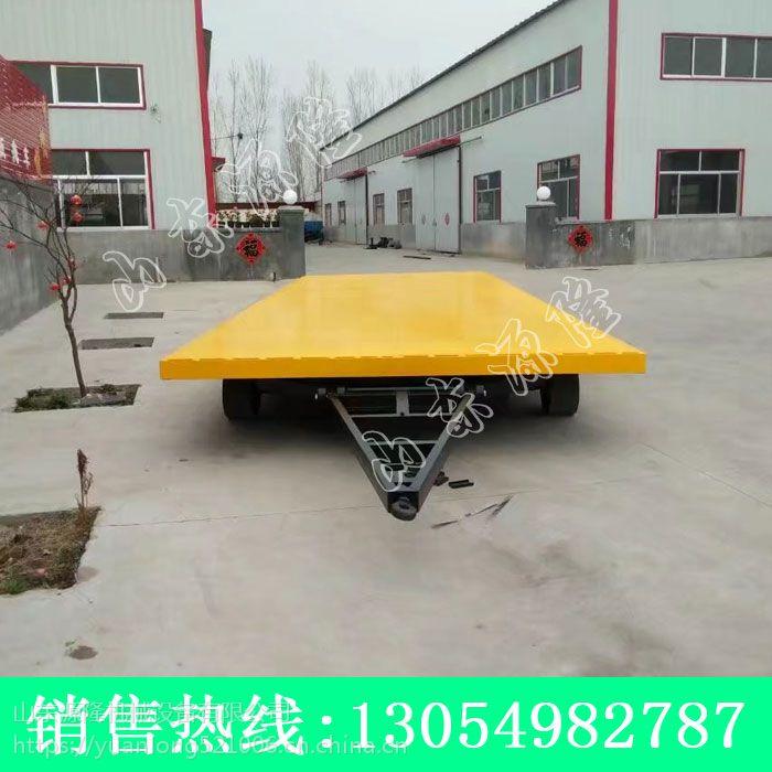 机场行李拖车 叉车牵引15吨拖车 15吨平板拖车