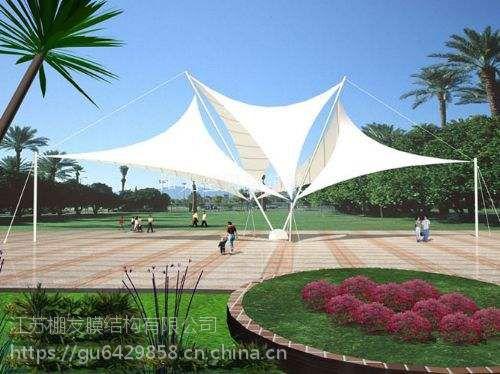 公园景观膜结构膜伞室外休闲凉亭膜结构学校主席台张拉膜