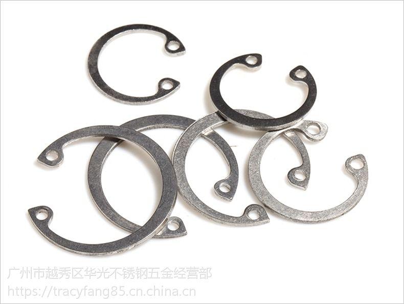GB893高强度孔用挡圈发黑/304不锈钢孔用挡圈孔用卡环M3M4M5M6M8M10-M50