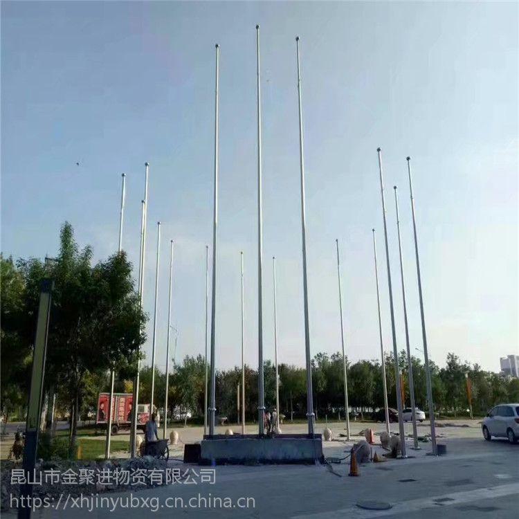 金裕 ***新12米不锈钢旗杆 价格 连云港不锈钢锥形旗杆供应